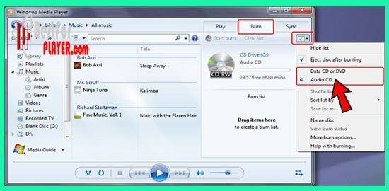 How to Burn a DVD with Windows Media Player