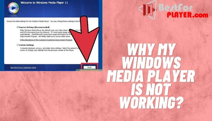 Why my Windows Media Player is not working?